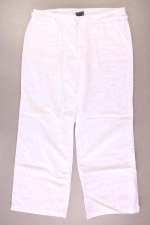 Lniane spodnie w kolorze białej wełny Len