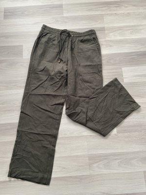 Haily's Pantalone di lino verde oliva Lino