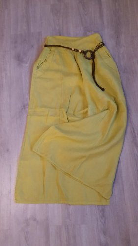 Marlene Trousers lime yellow linen