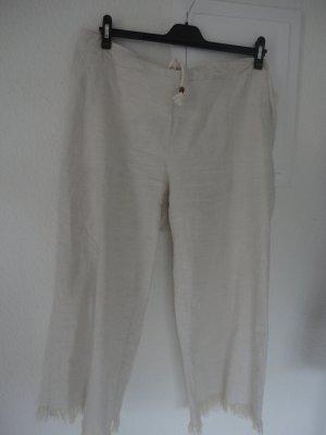 Rainbow Pantalon en lin blanc cassé-beige clair