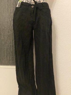 Leinenhose in schwarz neu