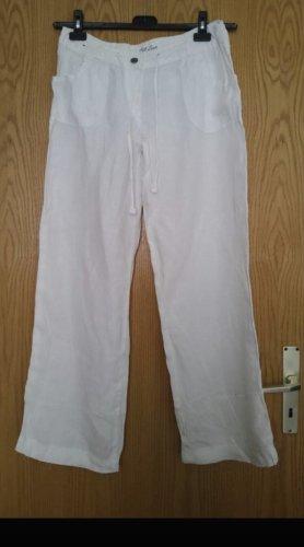 Leinenhose in weiß