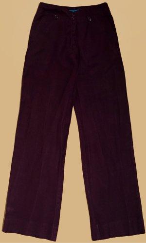Leinenhose, lang, low waist, Gr. 36