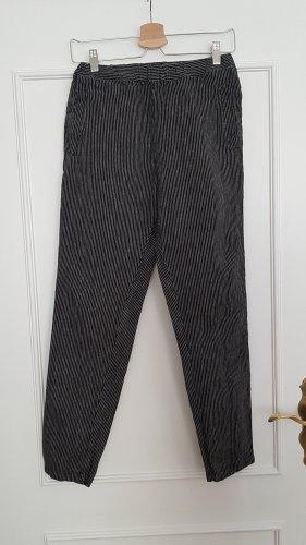 LinenIDStudio Pantalon en lin noir-blanc lin