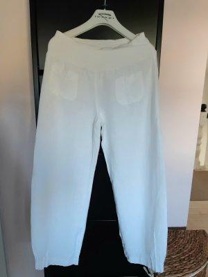 italienischer Hersteller Lniane spodnie biały