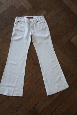 Level 99 Pantalone di lino bianco sporco-bianco