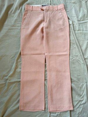 Zara Pantalon en lin rosé