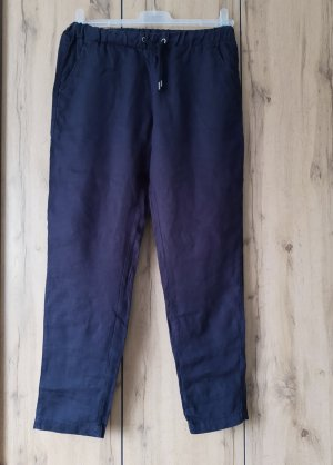 H&M Linnen broek donkerblauw Linnen