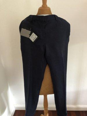 Massimo Dutti Linen Pants dark blue
