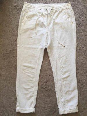 Opus Pantalon en lin blanc