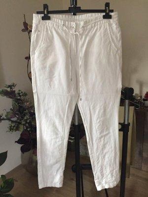 Opus Linen Pants white-natural white linen