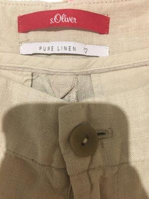 s.Oliver Linen Pants beige linen