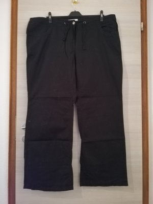 Sheego Pantalon en lin noir