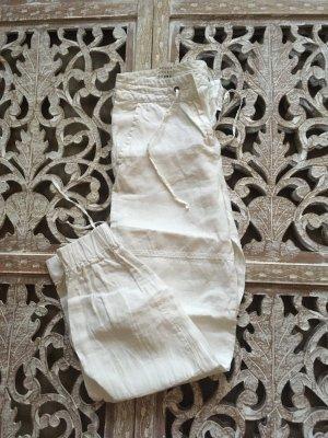 Sisley Linen Pants white linen