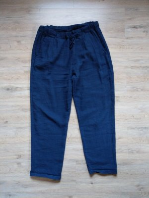 Made in Italy Pantalone di lino blu scuro