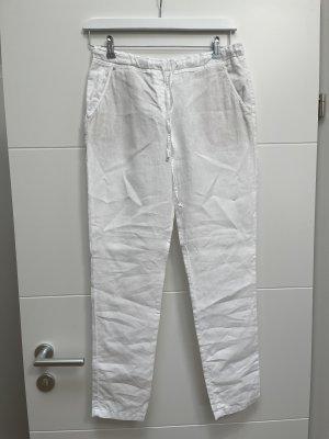 Brax Pantalone di lino bianco