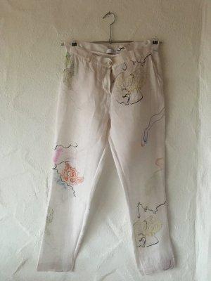 Coster Copenhagen Pantalone di lino bianco sporco Lino