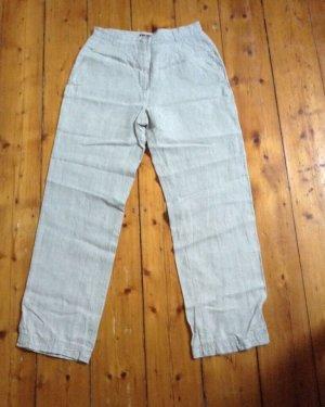 H&M L.O.G.G. Pantalone di lino beige chiaro Lino