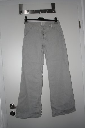 H&M L.O.G.G. Pantalone cargo beige chiaro Lino