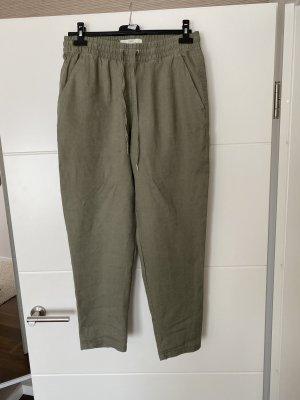 H&M Pantalone di lino verde oliva