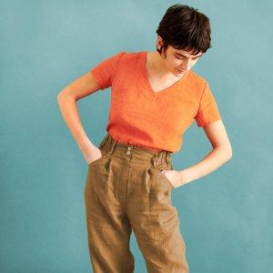 Notperfectlinen Pantalon en lin multicolore lin