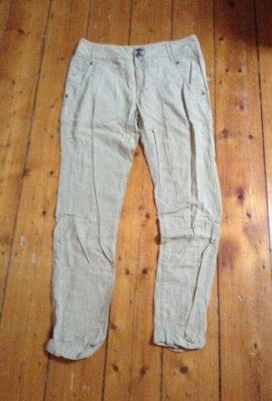 Only Pantalone di lino beige chiaro