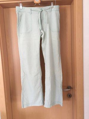 s. Oliver (QS designed) Pantalone di lino verde-grigio Lino