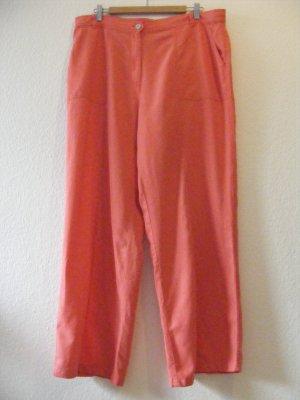 Vera Varelli Pantalone di lino rosso chiaro Lino