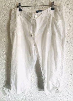 Charles Vögele Lniane spodnie biały