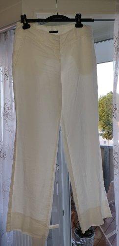 Sisley Pantalon en lin blanc