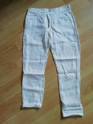 Angels Pantalon en lin blanc lin