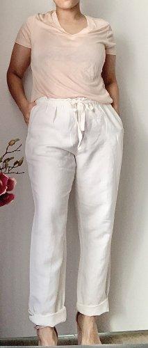 Oysho Linen Pants white