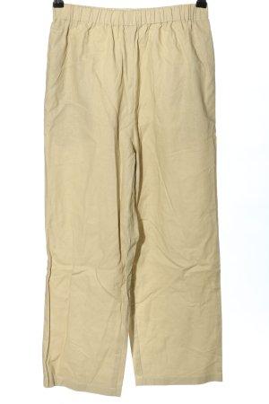 Pantalon en lin blanc cassé-beige clair style décontracté