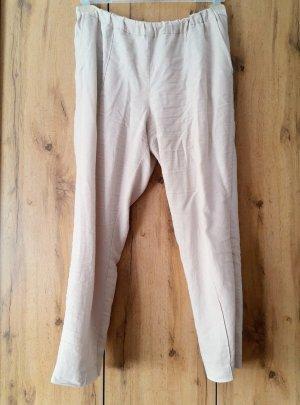Mango Pantalon en lin crème-beige clair lin