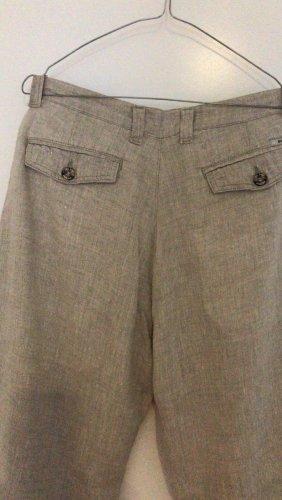 0039 Italy Pantalón de lino beige