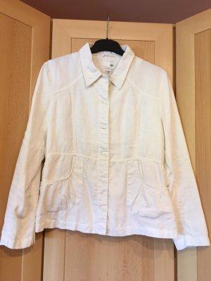 H&M Short Jacket white linen