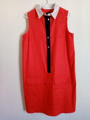 Armani A Line Dress red linen