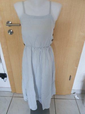 pure linen Off-The-Shoulder Dress light grey linen
