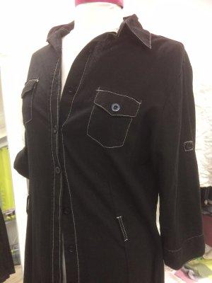 X-Mail Robe chemise noir-blanc