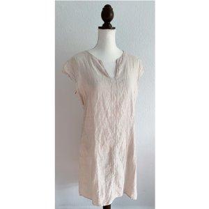 Leinenkleid Leinen Kleid beige Creme leicht made in Italy Größe 40 42