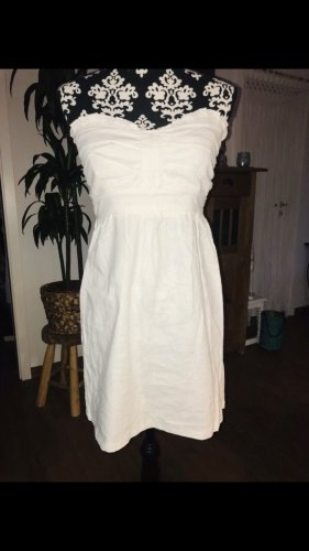 Tally Weijl Vestido bandeau blanco-blanco puro