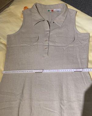 Gina Benotti Vestido largo color plata Lino