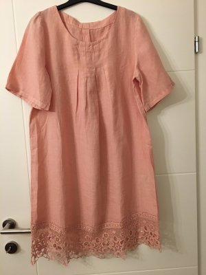 120% Lino Shortsleeve Dress dusky pink
