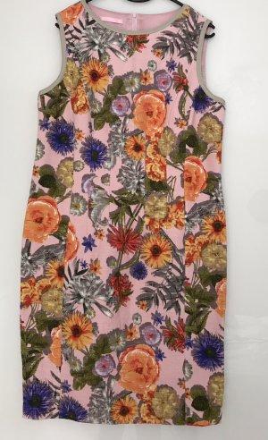 Leinenkleid von Basler Größe 40 mit Blumen