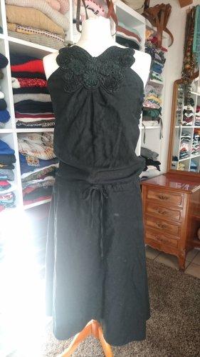 Leinenkleid von Closed Gr. 38 / M schwarz Schmetterling Hippie Midi