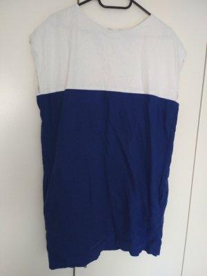 Mango Sukienka z krótkim rękawem biały-niebieski
