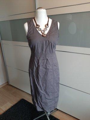 Simclan Midi-jurk grijs-bruin-beige
