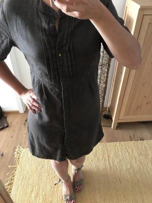 Leinenkleid von YaYa Hemdblusenkleid Sommerkleid braun grau