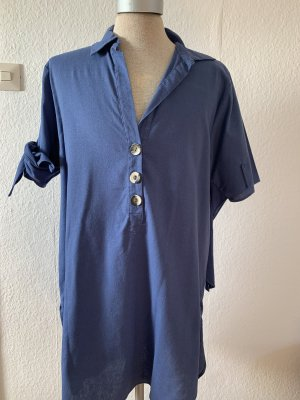 Zara Vestido tipo túnica azul aciano