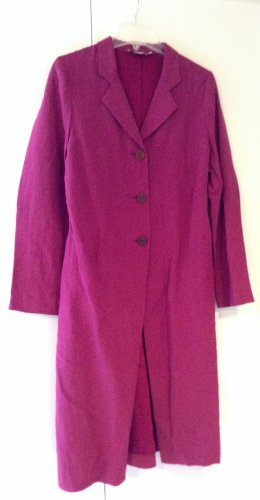 FOX'S Floor-Lenght Coat magenta linen